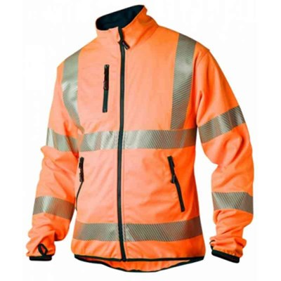 SOFTSHELLJACKA TOPSWEDE 7721 VARSEL ORANGE KL.3 XXL