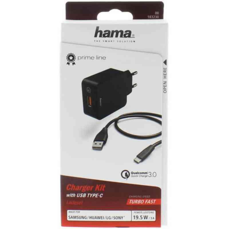 Ahlsell LADDARE 220V USB C KIT 3A SVAR 183230 Laddare